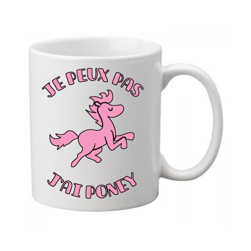 Mug j'peux pas j'ai poney / cheval - Tasse
