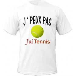 T-shirt j'peux pas j'ai tennis - cadeau sport homme