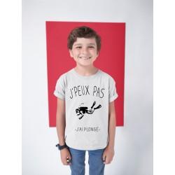 T-shirt Je peux pas j'ai plongé - Cadeau enfant fille et garçon