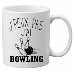 Mug j'peux pas j'ai bowling - Tasse