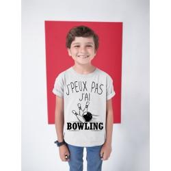 T-shirt Je peux pas j'ai Bowling - Cadeau enfant fille et garçon