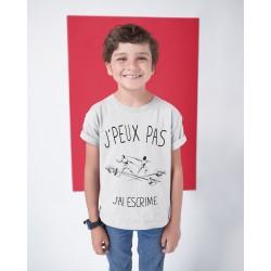 T-shirt Je peux pas j'ai escrime - Cadeau enfant fille et garçon