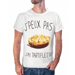 T-shirt j'peux pas J'ai tartiflette - cadeau homme
