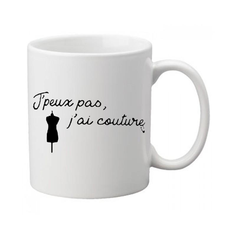 Mug / Tasse j'peux pas j'ai couture