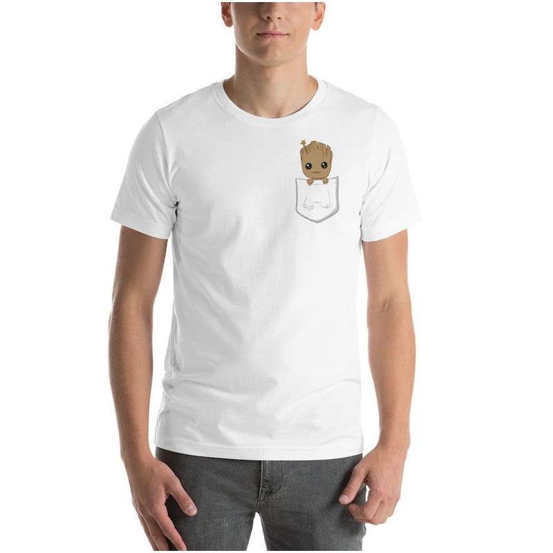 T-Shirt Groot Baby In Your Pocket - T-shirt drôle