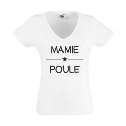 T-Shirt Mamie Poule - Femme COL V