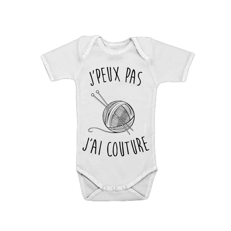Body bébé J'peux pas j'ai couture