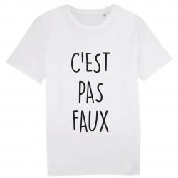 t-Shirt C'est pas faux - cadeau homme film humoristique