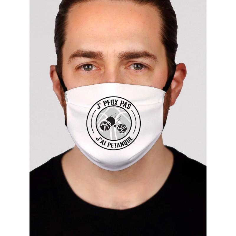 Masque en tissu je peux pas j'ai pétanque - Protection du visage masque barrière