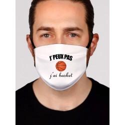 Masque alternatif je peux pas j'ai basket - Protection du visage masque barrière