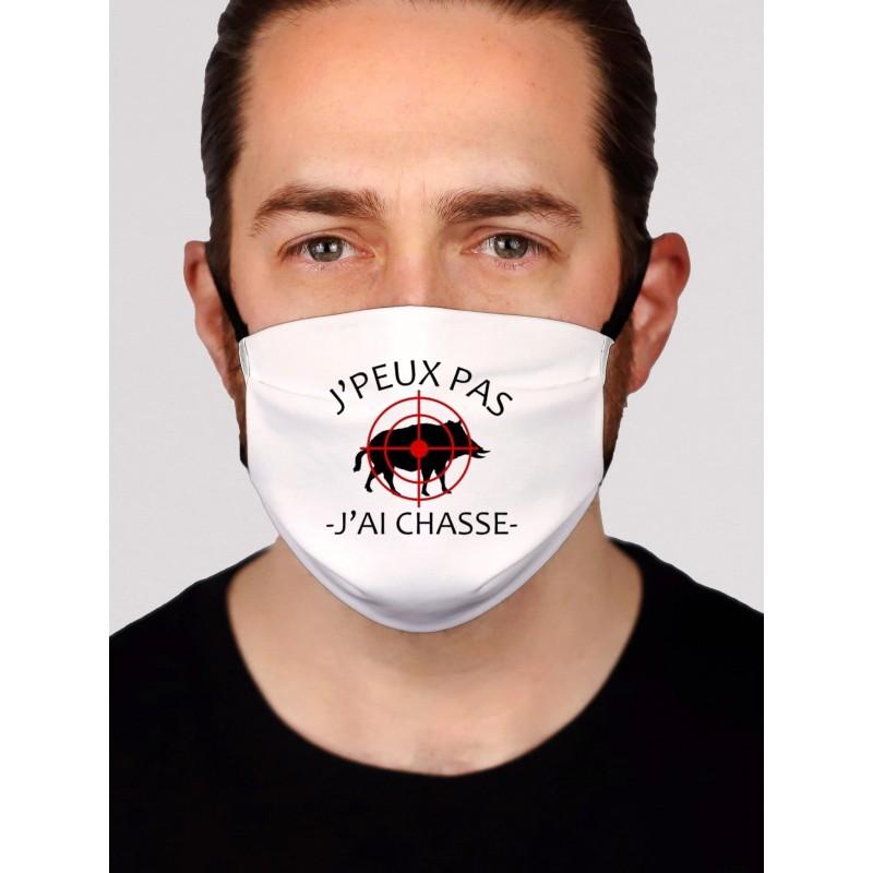Masque en tissu je peux pas j'ai chasse - Protection du visage masque barrière