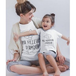 T-Shirt Marraine et filleul assorti