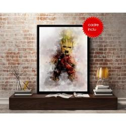 Cadre photo Bébé,Groot,Guardians Of The Galaxy,,Watercolour - Poster géant