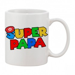 Mug Super papa - Tasse cadeau geek gamer mario bros