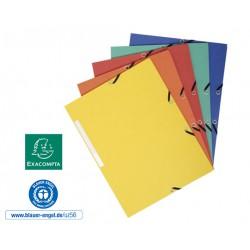 Chemise à élastiques 3 rabats carte marbrée recyclée 355g/m2 - A4 - Couleurs assorties