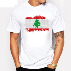 T-Shirt Drapeau Liban - Collection Pays Lebanon