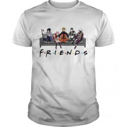 T-Shirt Naruto Friends - cadeaux manga sai kakashi