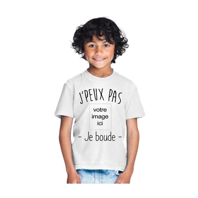 T-shirt Je peux pas je boude - Cadeau enfant personnalisable