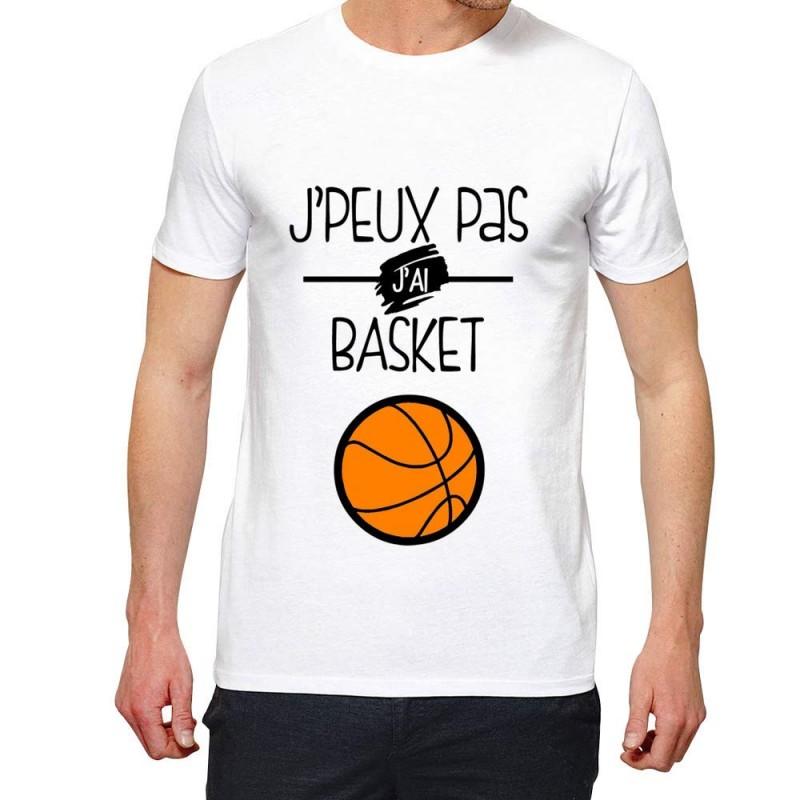 T-Shirt Je peux pas j'ai Basketball- Cadeau Sportif