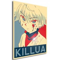 Affiche Killua - Poster hunter x hunter propaganda
