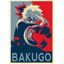 Affiche Bakugo poster My hero academia propaganda