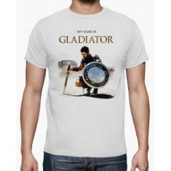 T-Shirt my name is gladiator - homme et enfant