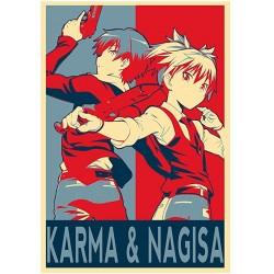 "Affiche Karma et nagisa -  Amazon Poster Assassination Classroom""Propaganda"""