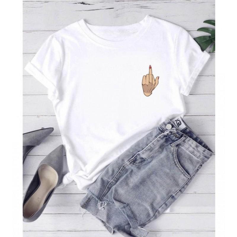 T-Shirt femme doigt d'honneur - femme et enfant