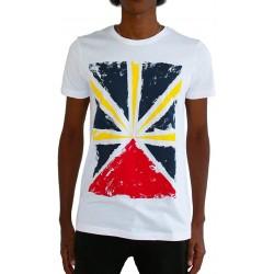 T-shirt réunion drapeau - Taille adulte et enfant