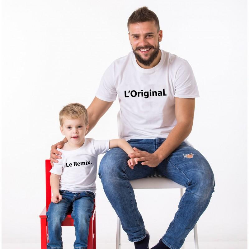 T-shirt L'original et le Remix - Adulte et enfant assorti