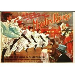 Affiche Vintage Moulin Rouge -  Poster avec cadre tableau film