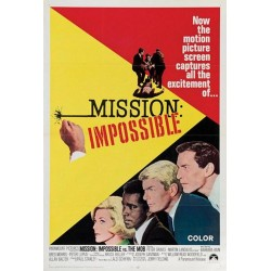 Affiche Vintage Mission impossible -  Poster avec cadre tableau film
