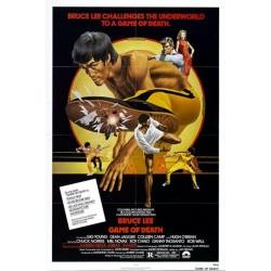 Affiche Vintage Bruce Lee jeu de mort Kung Fu -  Poster avec cadre tableau film