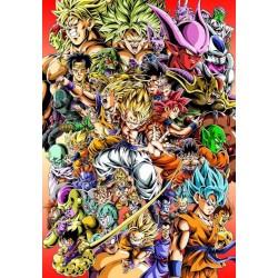 Affiche DBZ - Poster avec cadre tableau manga