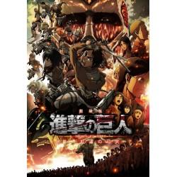 Affiche Attaque des titans - Poster avec cadre tableau Colossal vs Eldia