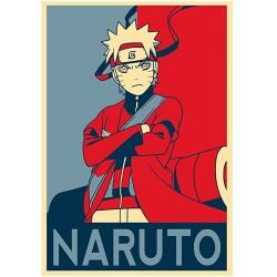 Poster Naruto propaganda - Affiche avec cadre tableau manga