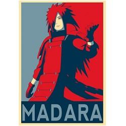 Poster Madara propaganda - Affiche avec cadre tableau manga
