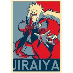 Poster Jiraiya propaganda - Affiche avec cadre tableau manga