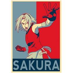 Poster Sakura propaganda - Affiche avec cadre tableau manga