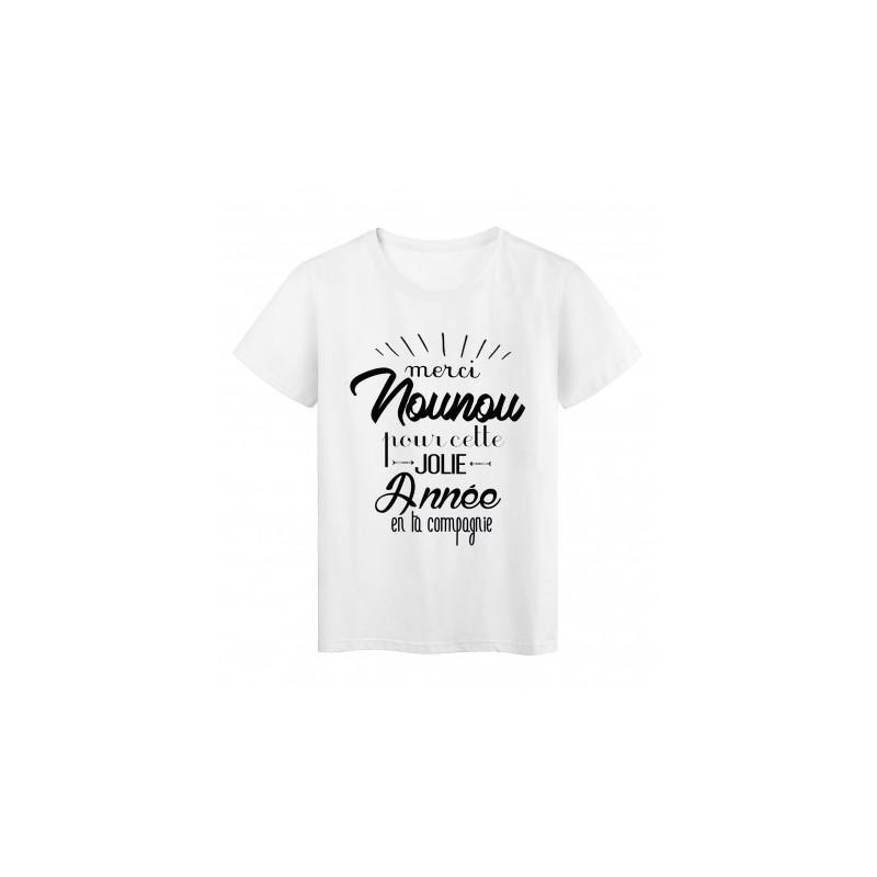 T-Shirt Merci nounou - femme et enfant