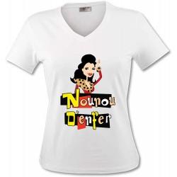 T-Shirt Nounou d'enfer - Femme COL V