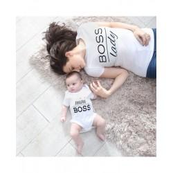 Ensemble maman et bébé Mini Boss avec body bébé