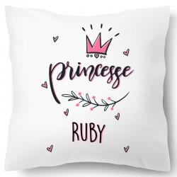 Coussin princesse personnalisé avec prénom