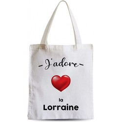 Totebag Sac Shopping Plage Etudiant J'adore La Lorraine Region de France Metz