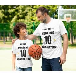 T-Shirt Que des numéros 10 dans ma team - Adulte et enfant