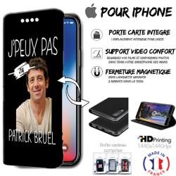 Housse portefeuille j'peux pas j'ai Patrick Bruel iPhone - étui Apple