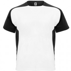 Maillot bicolor Blanc et manche noir - T-Shirt Adulte et Enfant