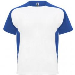 Maillot bicolor Blanc et manche bleu - T-Shirt Adulte et Enfant