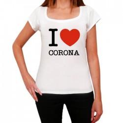 T-Shirt Femme i love corona