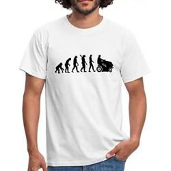 T-Shirt évolution du jardinier - tondeuse - Adulte et enfant